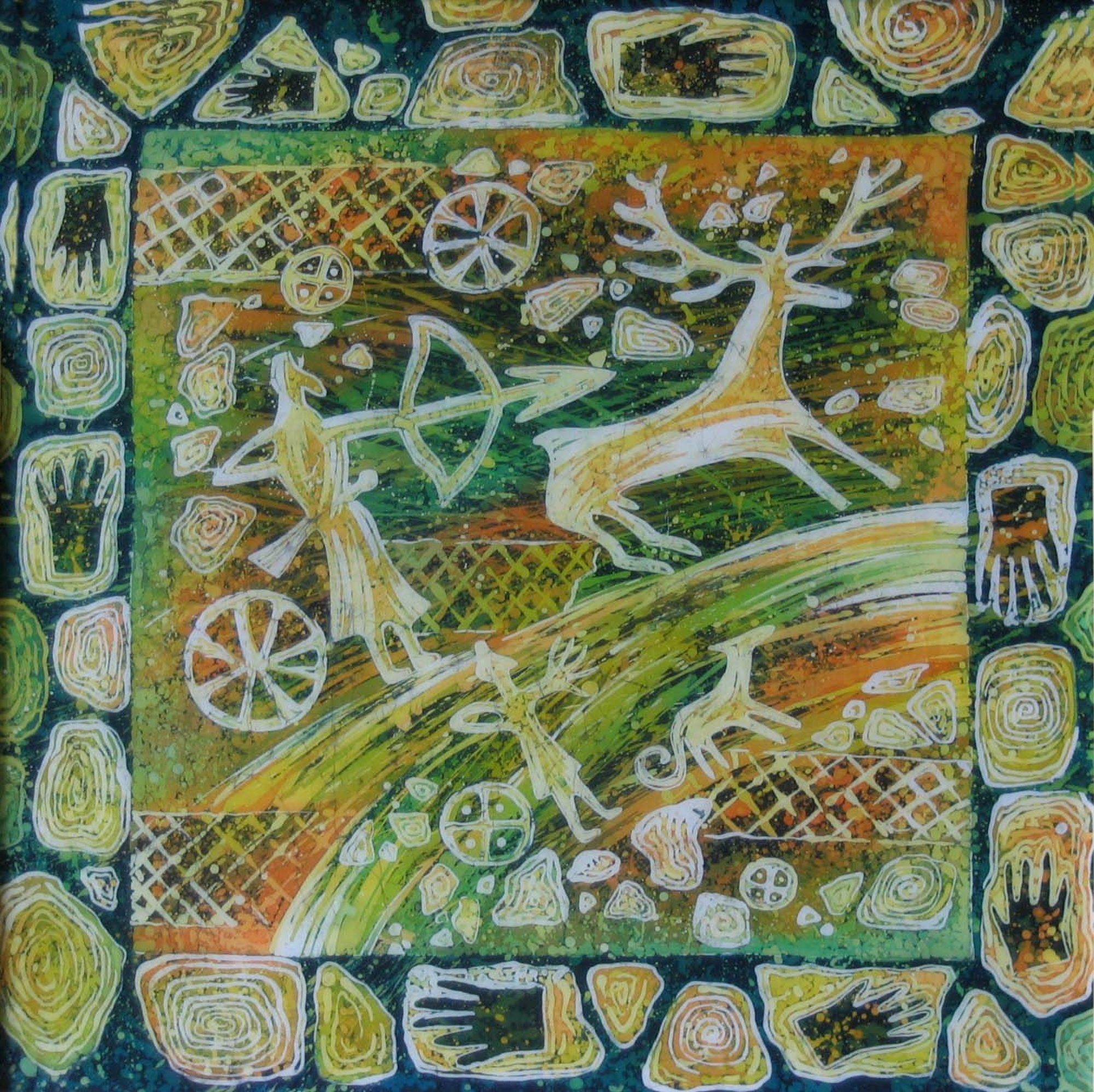 batik - Arrows.-90x90.-hot-batik.-2006