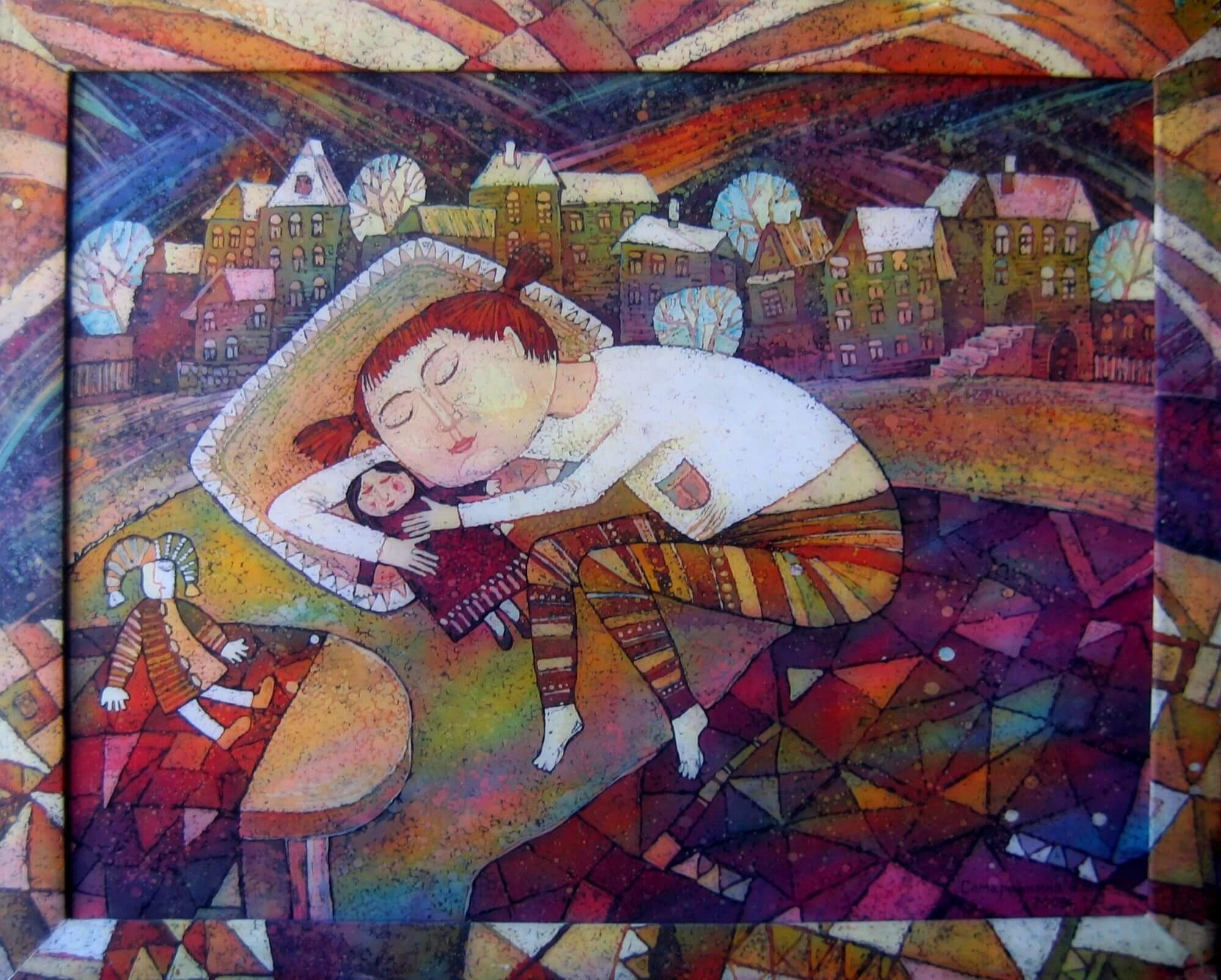 batik - Dreams-of-my-daughter.-hot-batik.-120х80