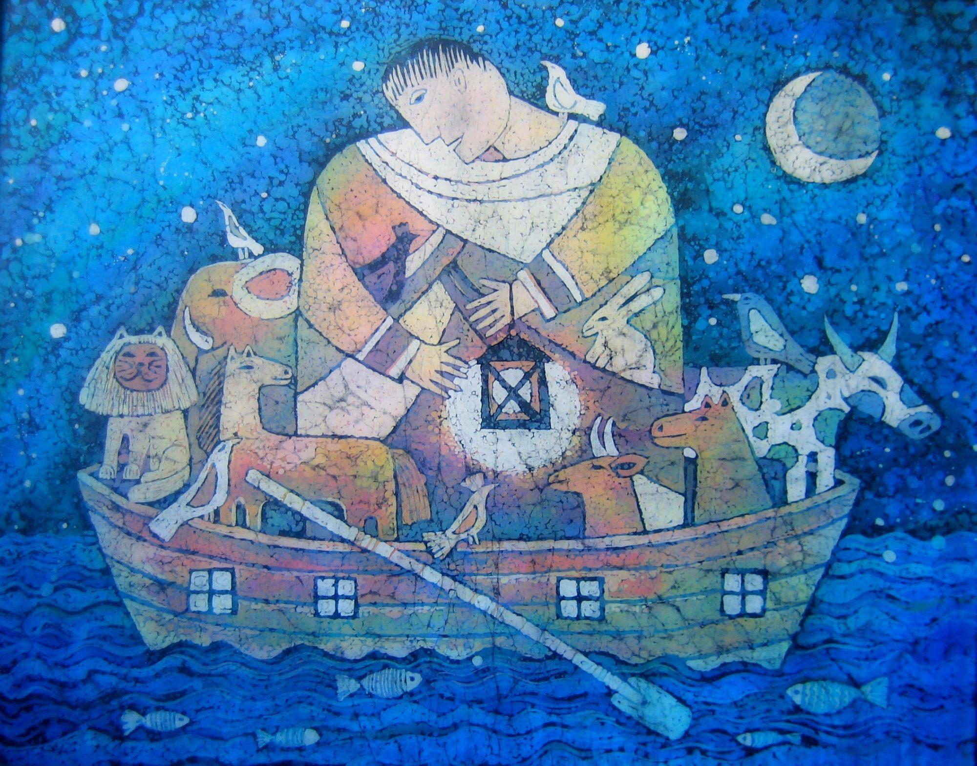 batik - Noahs-ark.-hot-batik.-60х80.-2009