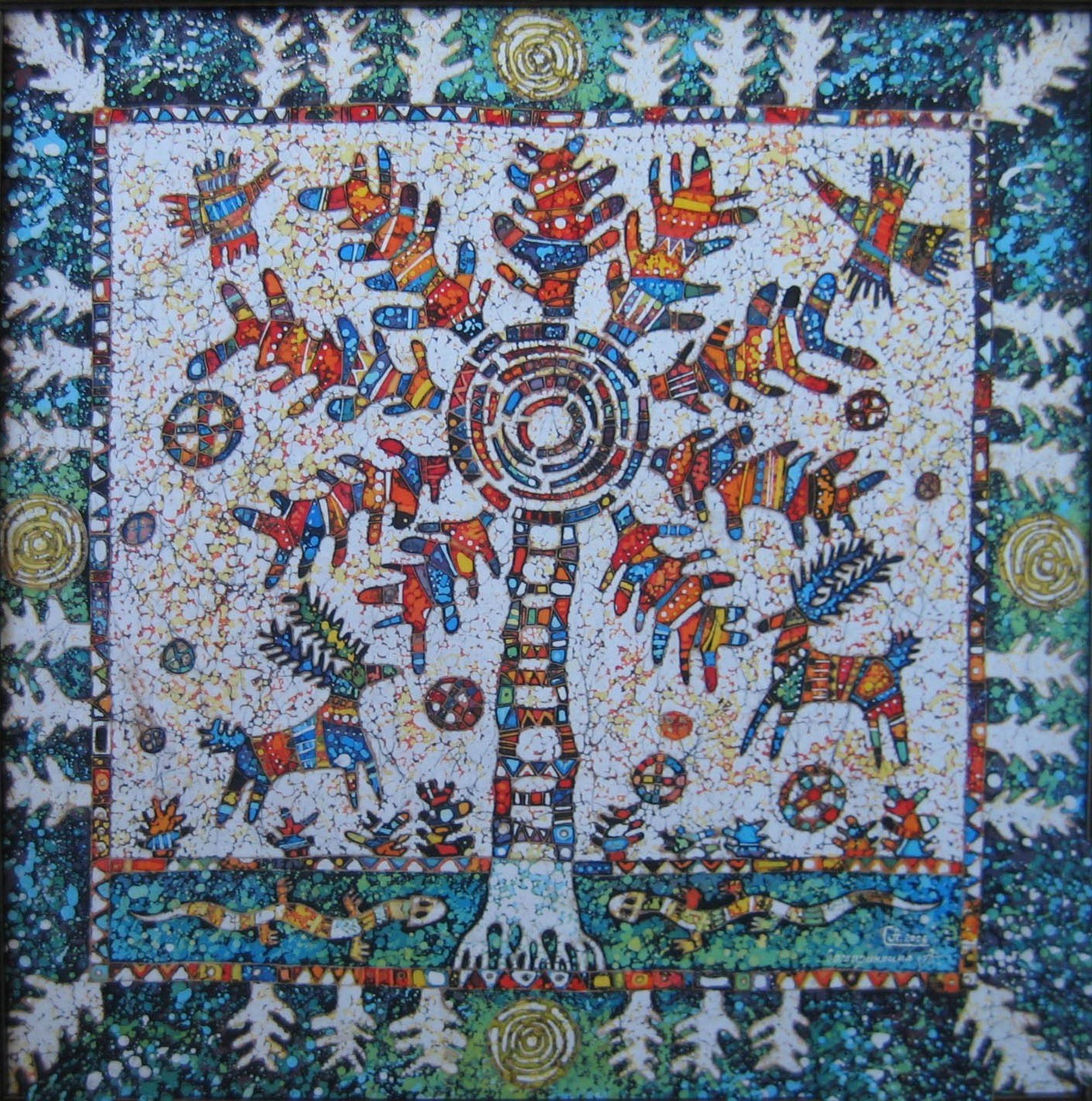 batik - The-World-Tree-Evenki.-90х90